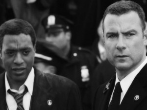 Liev Schreiber and Chiwetel Ejiofor in the movie Salt