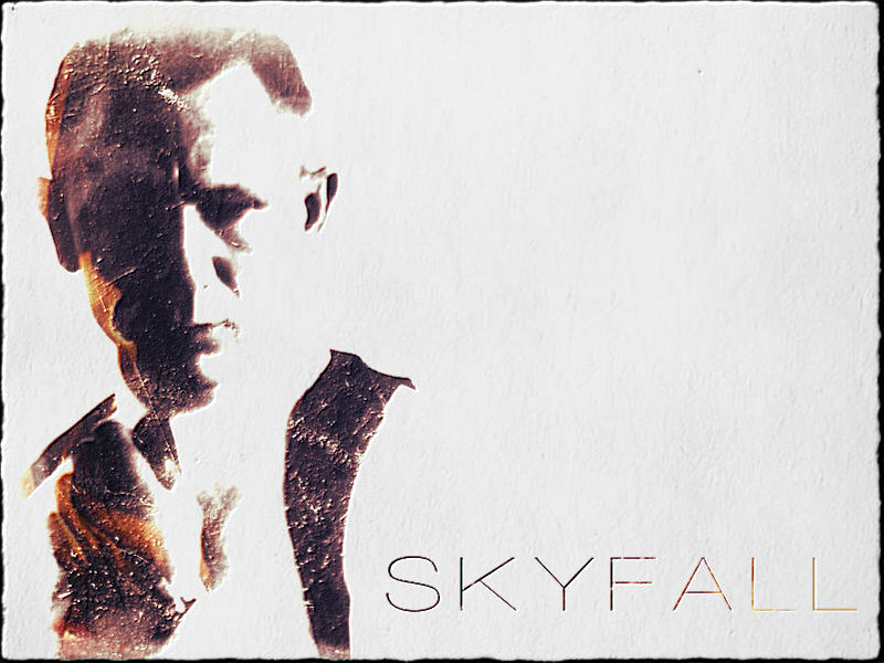 Alternative minimalist poster for the James Bond movie Skyfall