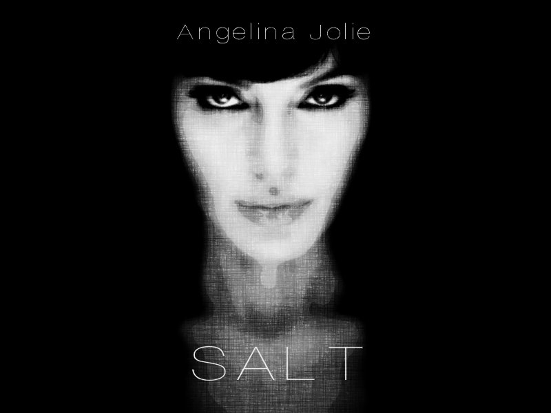 Alternative minimalist movie poster for Salt starring Angelina Jolie