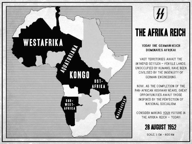 The Afrika Reich - Map of Africa in 1952