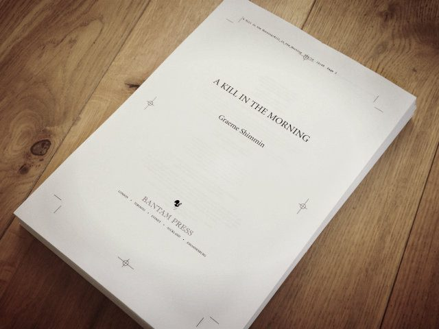 A Kill in the Morning Page Proofs