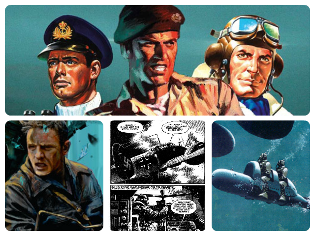 A Collage of Images from Commando Comic