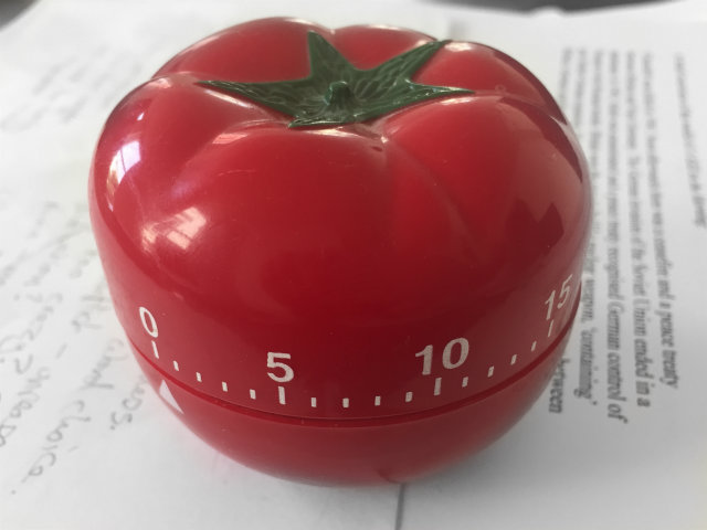 The Pomodoro Technique for Writers