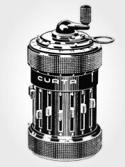 Curta Calculator from Pattern Recognition by William Gibson