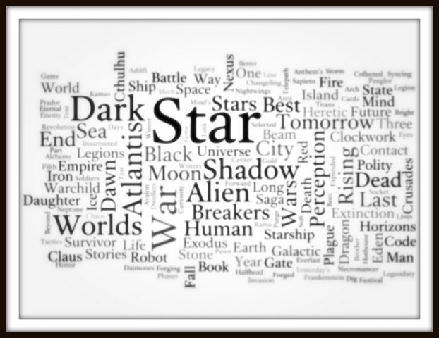 Title generation process: Sci-Fi Genre Word Cloud