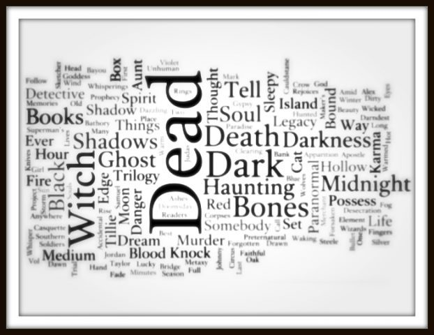 Novel title generation process: Supernatural Genre Word Cloud