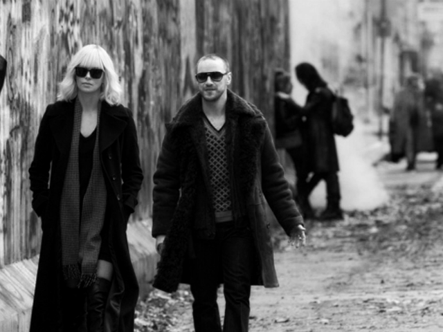 Charlize Theron and James MacAvoy in Atomic Blonde